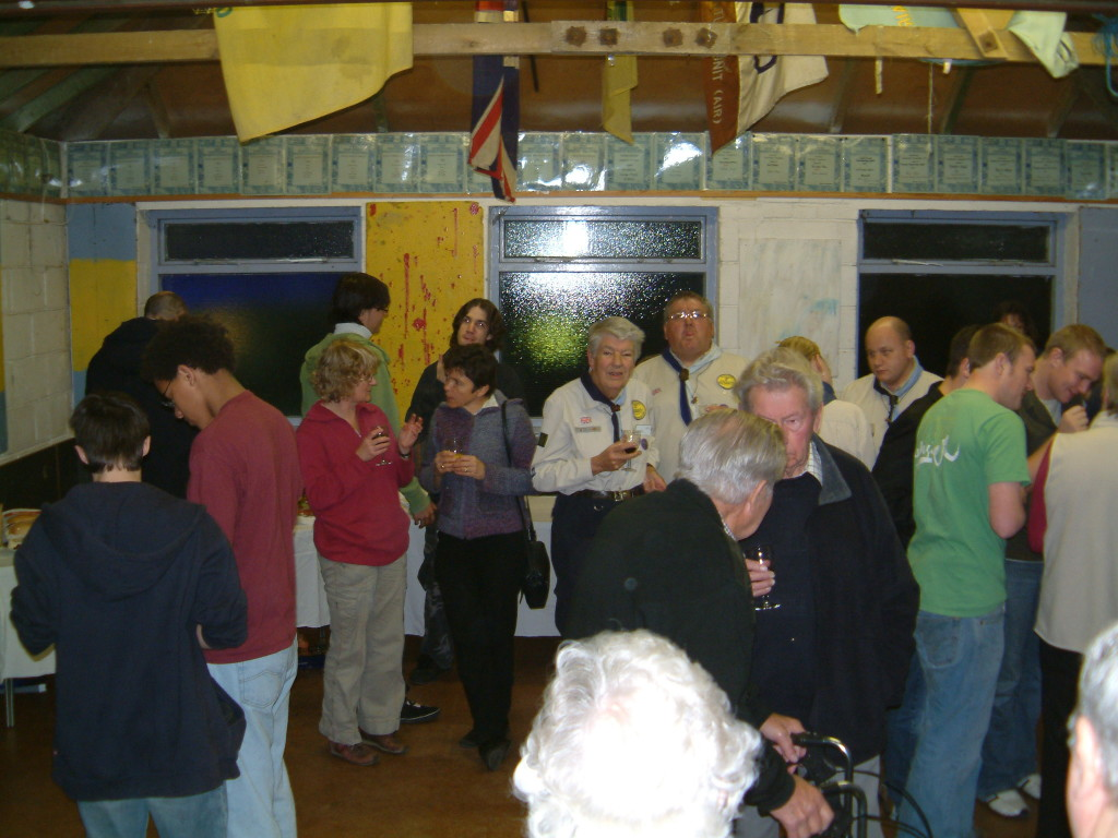 Gathered at the Scout Group's headquarters, members past and present celebrated the thirtieth anniversary of the opening of the building.